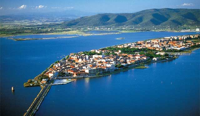Orbetello in the Lagoon