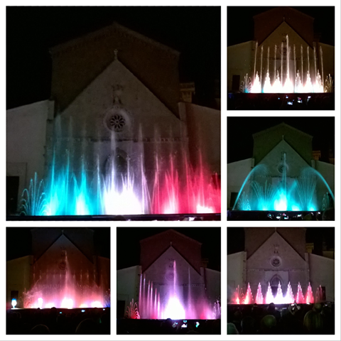 Dancing fountains at Gustatus Festival, Orbetello