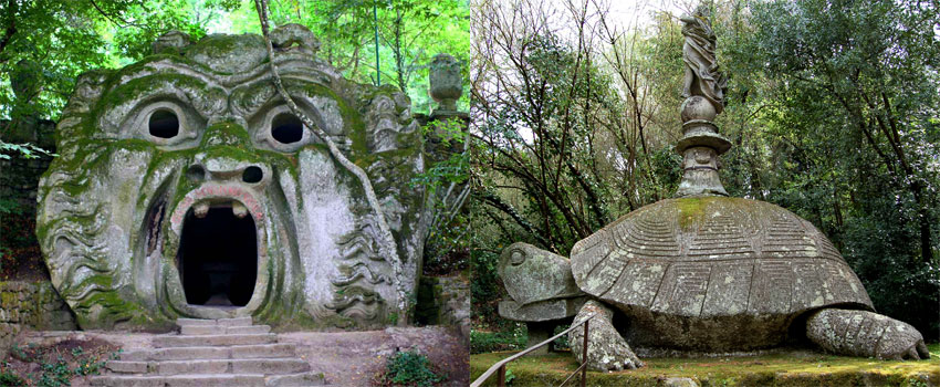"""Sacred Wood"" Monster Park in Bomarzo, Italy"