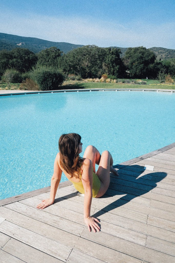 Winter outdoor pool in Tuscany