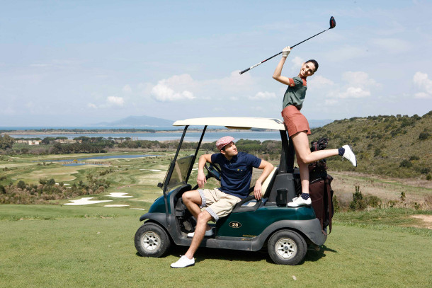 Photo shoot by Golf Today in Tuscany, Argentario