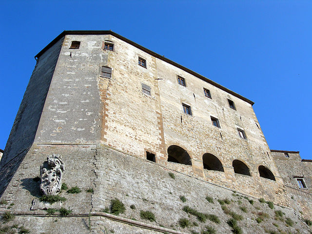 The façade of the Orsini Fortress, Sorano, Tuscany
