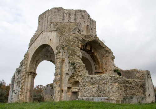 San Bruzio: ruins of a Romanic Church in Maremma