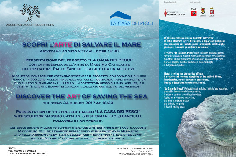Art saves the Sea in Maremma Tuscany