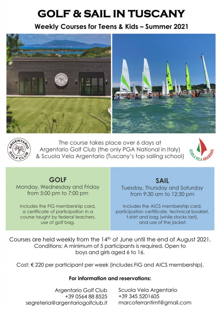 tuscany golf and sailing courses argentario